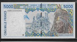 Bénin - 5000 Francs - 2002 - Pick N°213Be - NEUF - Benin