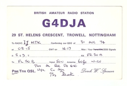 CT--02428-- CARTOLINA-INGHILTERRA- BRITISH AMATEUR RADIO STATION    1974 - CB