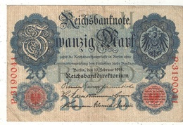 20 Mark 1914 - [ 2] 1871-1918 : Empire Allemand