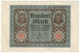 100 Mark 1920 - [ 3] 1918-1933 : République De Weimar