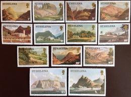 St Helena 1976 Paintings Views Set MNH - Saint Helena Island