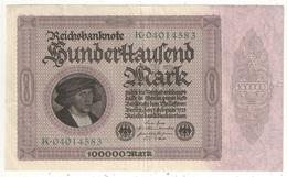100000 Mark 1923 - [ 3] 1918-1933 : République De Weimar