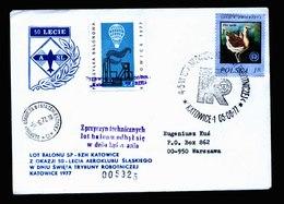 A5400) Polen Poland Brief Ballonpost 5.6.77 - 1944-.... Republik