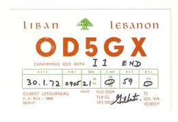 CT--02435-- CARTONCINO-LIBANO-BEIRUT- 1972 - CB