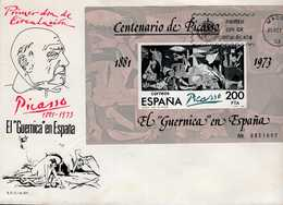 Spanien Block 23 I Picasso Auf FDC - Blocs & Hojas