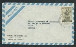 Argentine - Lsc Affranchie  Pour La France En 1955 -  Ax13709 - Argentina