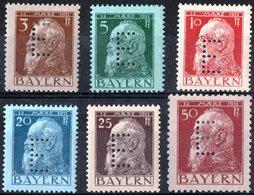 GERMANIA, GERMANY, ANTICHI STATI, BAVIERA, BAYERN, PRINCIPE LUITPOLD, 1911, NUOVI (MLH*) Scott 77-81,84 - Bavaria