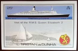 Tristan Da Cunha 1978 Royal Visit Ship Minisheet MNH - Tristan Da Cunha