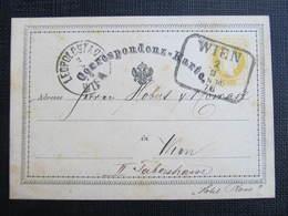 GANZSACHE Wien - Wien Leopoldstadt Korrespondenzkarte 1876 /// D*31297 - Briefe U. Dokumente