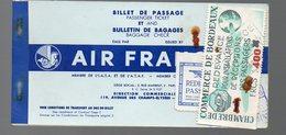 Billet De Passage AIR FRANCE ALGER BORDEAUX Avec Vignettes Bordeaux (PPP8364) - Plane