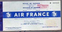 Billet De Passage AIR FRANCE ALGER MARSEILLE  (PPP8365) - Plane