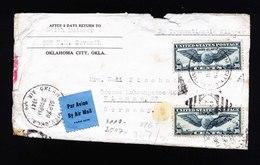 A5405) US Airmail Cover Multifranking 30 C (2) To Vienna / Austria Censorship - Vereinigte Staaten