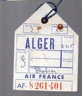 étiquette Bagages  AIR FRANCE ALGER   (PPP8366 ) - Transportation Tickets