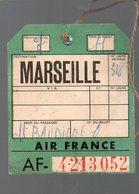 étiquette Bagages  AIR FRANCE MARSEILLE   (PPP8367) - Biglietti Di Trasporto