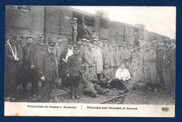 Roanne. Arrivée Des Prisonniers Allemands(pour Travailler) Et Des Blessés Français. Octobre 1914 - War 1914-18
