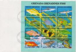 Grenada Grenadines 2 Marine Life Sheetlets On 2 FDCs - Marine Life