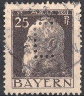 GERMANIA, GERMANY, ANTICHI STATI, BAVIERA, BAYERN, COMMEMORATIVO, PRINCIPE LUITPOLD, 1911, USATI Scott 81 - Bavière