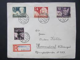 R-BRIEF General Gouvernement Krakau - Warnsdorf 1940 Echt Gelaufen /// D*31309 - Deutschland