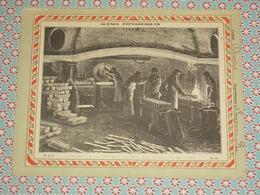 Couverture Illustrée D'ancien Cahier D'écolier - Atelier De La Fonte à L'Hotel Des Monnaies De Paris - Fin XIXe - Blotters