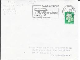 AVEYRON 12 -  ST AFRIQUE  - FLAMME N° 2201 - VOIR DESCRIPTION  - 1969 - Postmark Collection (Covers)
