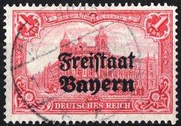 BAVIERA, BAYERN, GERMANIA, GERMANY, ANTICHI STATI, 1919, FRANCOBOLLI USATI Michel 148B   Scott 188 - Bavaria