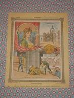 Couverture Illustrée D'ancien Cahier D'écolier - Frédégonde Montdidier - Meutre De Pretextat - Fin XIXe - Blotters