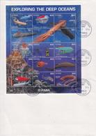 Guyana Marine Life Sheetlet On FDC - Marine Life