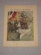 Couverture Illustrée D'ancien Cahier D'écolier - Marine Toulon Réception Amiral Avellan 1893 - L'Epervier - Fin XIXe - Blotters