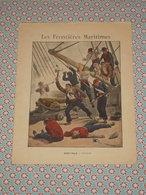 Couverture Illustrée D'ancien Cahier D'écolier - Marine Saint Malo Surcouf - Le Bayard Cuirassé De 1er Rang - Fin XIXe - Blotters