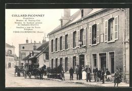 CPA Fere-Champenoise, Cafe-Hotel De Paris - France