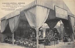 CPA 75 PARIS FEVRIER 1914 CONCOURS GENERAL AGRICOLE MOTEURS TOSELO INGENIEUR CONSTRUCTEUR A LIANCOURT - Expositions