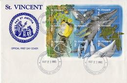 St Vincent Marine Life Sheetlet On FDC - Maritiem Leven