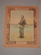 Couverture Illustrée D'ancien Cahier D'écolier - Marinier De La Saône - Carte Des Voies Navigables Cahiers Géographiques - Blotters
