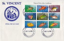 St Vincent Marine Life Sheetlet On FDC - Marine Life