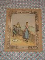 Couverture Illustrée D'ancien Cahier D'écolier - Frisons - Carte De Belgique & Hollande - Cahiers Géographiques  Fin 19e - Blotters