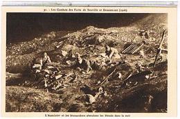 55  LES COMBATS  DES FORTS   DE  SOUVILLE  ET  DOUAUMONT  1916  WW1   TBE   1J272 - Douaumont
