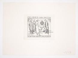 Ex-libris Moderne XXème Illustré -  Allemagne - DOKTOR HERTA UHLITZSCH - Ex Libris