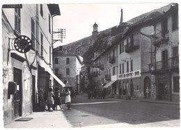 Cpsm Tende - La Place De La République Vue Des Ruines Du Château ( Téléphone à Gauche ) - Autres Communes