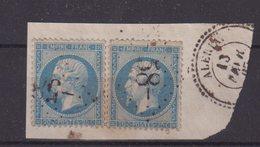 "FRANCE : GC 58 . "" ALERIA "" . (19) . N° 22 . SUR FGT . - Marcophily (detached Stamps)"