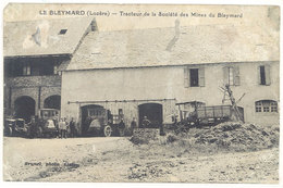 Cpa Le Bleymard ( Tracteur ) - Tracteur De La Société Des Mines Du B. ( état ) - Le Bleymard