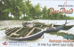 Maldives - Boats On The Beach - Maldives