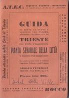 Trieste - Guida E Pianta Stradale Della Citta 1956 - Dépliants Turistici