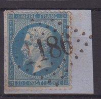 """FRANCE : GC 1186 . """" COURSEGOULES """" . (87) . N° 22 . TB . SUR FGT . - Marcophilie (Timbres Détachés)"""