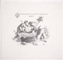 Ex-libris Moderne XXème Illustré -  Allemagne - INTERNATIONALE BUCHKUNST-AUSSTELLUNG - Leipzig - 1959 - Ex Libris