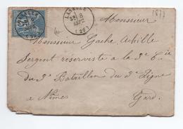 1877 - ENVELOPPE Avec TàD De LASALLE (GARD) - Marcophilie (Lettres)