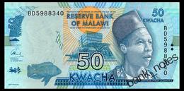 MALAWI 50 KWACHA 2016 Pick 64c Unc - Malawi