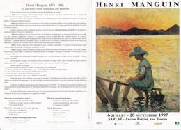 Mr JEAN JACQUES De PERETTI A L' HONNEUR De VOUS INVITER Au VERNISSAGE De L' EXPOSITION De HENRI MANGUIN  1997,,,TBE - Partecipazioni