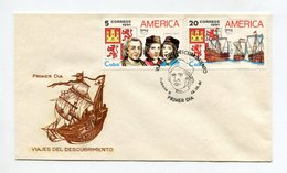 CUBA 1991 FDC COVER DISCOVERY TRAVEL COLOMBUS HAVANA Mi#3518-19 - FDC