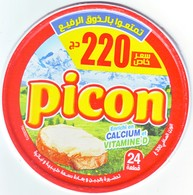 """Algérie - 1  Couvercle De  Fromage Fondu """" Picon"""" Nouvelle Promotion """"24 Portions à 220,00 DA.. - Cheese"""