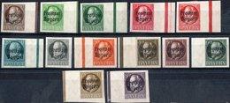 GERMANIA, GERMANY, ANTICHI STATI, BAVIERA, BAYERN, COMMEMORATIVO, RE LUDWIG III, 1919, NUOVI (MLH*) Scott 212-224 - Bavaria